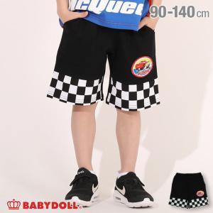 ベビードール BABYDOLL 子供服 ディズニー ハーフパンツ チェッカー 切替 4997K (トップス別売) キッズ 男の子 女の子 DISNEY|babydoll-y
