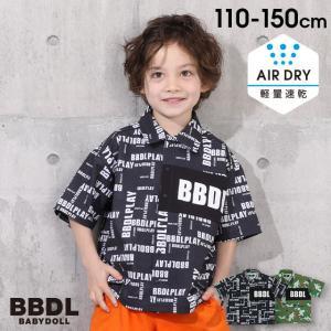 ベビードール BABYDOLL 子供服 BBDL シャツ ロゴ切替 総柄 5005K キッズ 男の子 女の子|babydoll-y