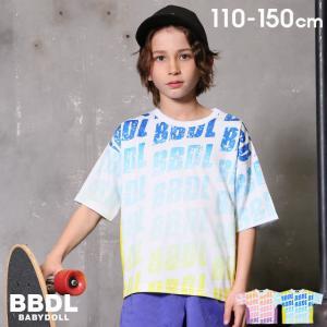 50%OFF SALE ベビードール BABYDOLL 子供服 BBDL Tシャツ 斜めロゴ 総柄 5008K キッズ 男の子 女の子 babydoll-y