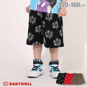 ベビードール BABYDOLL 子供服 ハーフパンツ 王冠 ペイント総柄 5032K キッズ 男の子 女の子|babydoll-y