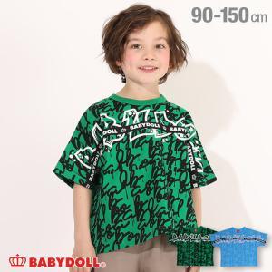 ベビードール BABYDOLL 子供服 Tシャツ ロゴテープ ペイント柄 5033K キッズ 男の子 女の子|babydoll-y