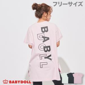 ベビードール BABYDOLL 子供服 バックロゴ ロング丈 Tシャツ 5070A 大人 レディース|babydoll-y
