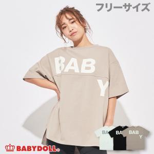 ベビードール BABYDOLL 子供服 ランダムロゴ 切り替 Tシャツ 5071A 大人 レディース|babydoll-y
