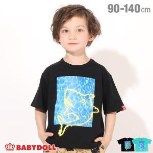 ベビードール BABYDOLL 子供服 Tシャツ シャークペイント 5104K (ボトム別売) キッズ 男の子 女の子|babydoll-y