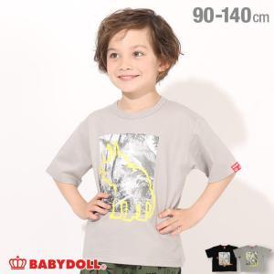 ベビードール BABYDOLL 子供服 Tシャツ 恐竜ペイント 5106K (ボトム別売) キッズ 男の子 女の子|babydoll-y
