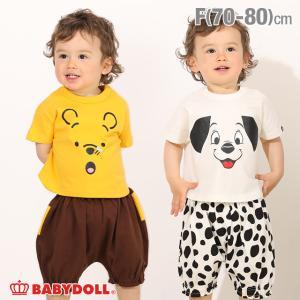 ベビードール BABYDOLL 子供服 ディズニー カボチャパンツセット 5163B ベビーサイズ 男の子 女の子 DISNEY|babydoll-y