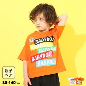 30%OFF SALE ベビードール BABYDOLL 子供服 Tシャツ カラーステッカー親子お揃い  5198K キッズ 男の子 女の子|babydoll-y