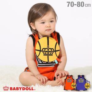 50%OFF SALE ベビードール BABYDOLL 子供服 ロンパース ロゴライン 5203B ベビー 男の子 女の子|babydoll-y