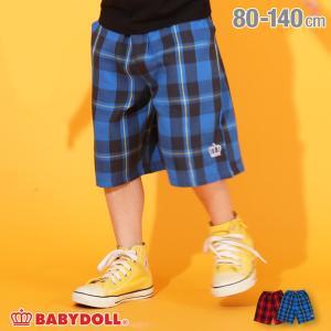 ベビードール BABYDOLL 子供服 ハーフパンツ チェック柄 5240K キッズ 男の子 女の子 30v babydoll-y