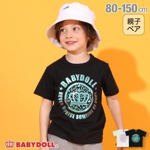 ベビードール BABYDOLL 子供服 Tシャツ 王冠ロゴ 親子お揃い 5259K キッズ 男の子 女の子|babydoll-y