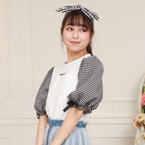ベビードール BABYDOLL 子供服 PINKHUNT PH Tシャツ パフショル 5300K キッズ ジュニア 女の子|babydoll-y