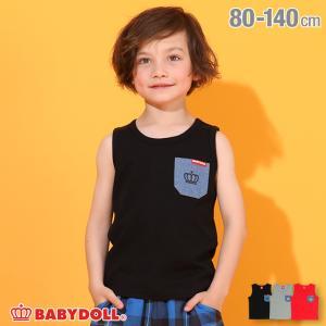 50%OFF SALE ベビードール BABYDOLL 子供服 タンクトップ デニムポケット 5413K キッズ 男の子 女の子 babydoll-y