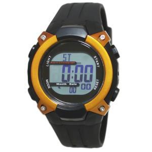 クレファー 腕時計 メンズ 電波 ソーラー デジタル 5気圧 防水 FDM7862-OR babygoods