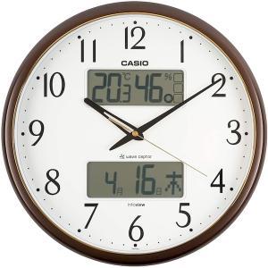 カシオ 掛け時計 電波 アナログ 温度 湿度 カレンダー 表示 ITM-650J-5JF|babygoods
