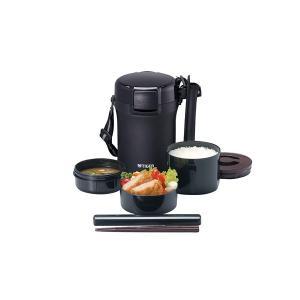 タイガー ステンレスランチジャー 茶碗 約3杯分 ブラック LWU-A172-KM babygoods