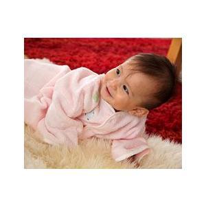 小さいときはおくるみに、大きくなったらバスローブとして♪ふわサラ2wayおくるみ&バスローブ(ベビーグース) babygoose