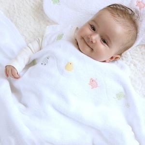 とびきりのふわふわ感が気持ちいい♪『ふわサラおくるみケットタオル』(ひよこクラブ、Baby-mo掲載商品)(ベビーグース)|babygoose