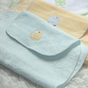 ガーゼ素材で背中の汗も、気にならない♪『ふわサラ汗取りタオル』(Baby-mo掲載商品)(ベビーグース) babygoose