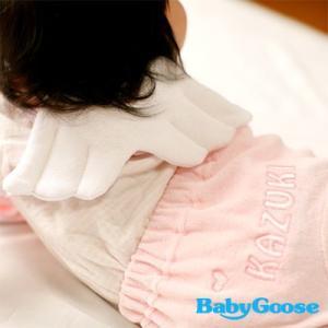出産祝いに 名前入りベビー服 Naming天使のスタイスーツ(出産祝い・名入れ・名前入り・誕生日・赤ちゃん・ベビー・ベビー服)|babygoose