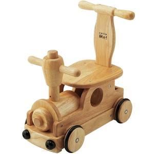 木's乗用ポッポ 乗用玩具 足けり乗用 木製押車 シンプル|babyish