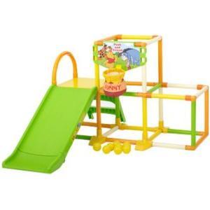 くまのプーさんハニーポットおりたたみジム2 ジャングルジム 室内用 遊具 すべり台|babyish