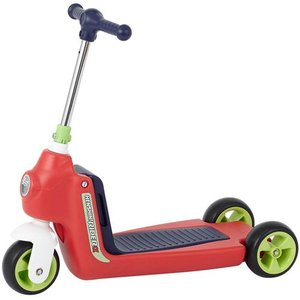 へんしん ライダーα レッド キックボード スクーター バイク|babyish