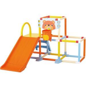 おりたたみプレイジム ジャングルジム 室内用 遊具 すべり台|babyish