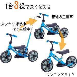 へんしん サンライダーFC ブルー 三輪車 バランスバイク へんしんバイク カジキリ機能付き押手棒 babyish 02