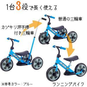 へんしん サンライダーFC オレンジ 三輪車 バランスバイク へんしんバイク カジキリ機能付き押手棒|babyish|02