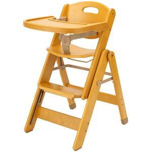 ミーブル スライドチェア テーブル付 折りたたみ 木製 簡単調整|babyish