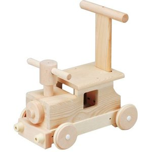 森の汽車ポッポ 乗用玩具 押し車 木製 足けり乗用 おもちゃ|babyish