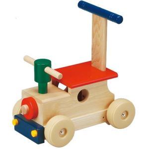 カラフルロコ 乗用玩具 押し車 木製 足けり乗用 おもちゃ|babyish