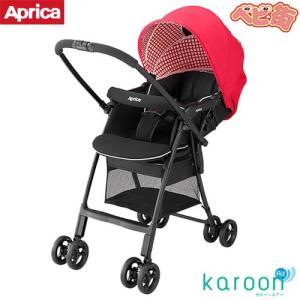 ベビーカー アップリカ カルーンエアーAB チェックレッドRD A型 新生児 両対面式 P10 送料無料 babymachi