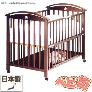 ベビーベッド サワベビー K型ローワン ダークブラウン 澤田工業 ベビーベット アレルギー対策ベッド 送料無料|babymachi