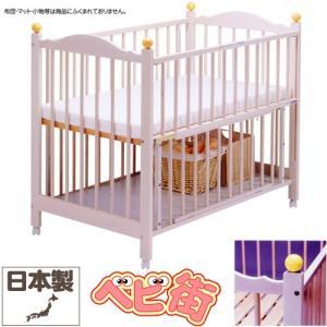 ベビーベッド サワベビー M型ミニョン アイボリーホワイト 澤田工業 ベビーベット 安心 アレルギー対策ベッド 送料無料|babymachi