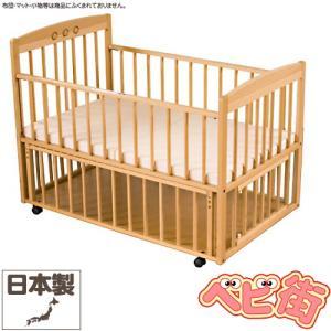 ベビーベッド サワベビー ティアラDX ナチュラル 澤田工業 ベビーベットアレルギー対策 添い寝ベッド 送料無料|babymachi