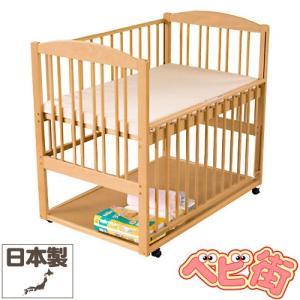 ベビーベッド サワベビー C型ステラ ナチュラル/澤田工業 ベビーベット ひのきの床板 アレルギー対策 ハイタイプ 送料無料|babymachi