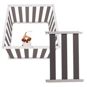ペットフェンス 犬 愛犬 ケージ ペットケージ ペットサークル 安全ガード 仕切り 60cm dfang dフェンス ダークグレー M|babymate