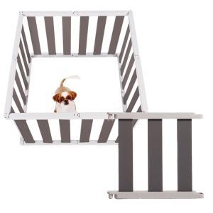 ペットフェンス 犬 愛犬 ケージ ペットケージ ペットサークル 安全ガード 仕切り 40cm dfang dフェンス ダークグレー S|babymate