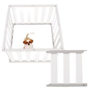 ペットフェンス 犬 愛犬 ケージ ペットケージ ペットサークル 安全ガード 仕切り 40cm dfang dフェンス ホワイト S(品切れ 6月中再入荷予定)|babymate