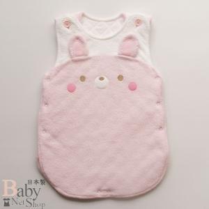 ベビー用スリーパー 柔らか無撚糸パイル 日本製 ピンク|babynetshop