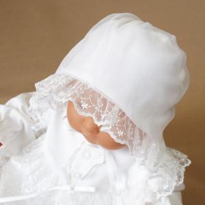 厚手の秋冬物素材 2点セット 退院時お宮参り用お帽子付き ベビーセレモニードレス (15517)|babynetshop|02