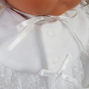 厚手の秋冬物素材 2点セット 退院時お宮参り用お帽子付き ベビーセレモニードレス (15517)|babynetshop|10