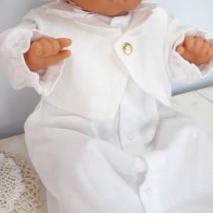 新生児の退院時・お宮参り用 ベビードレス セレモニードレス 男の子におすすめ タキシードタイプ2点セット|babynetshop|03
