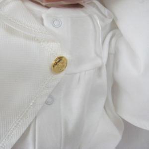 新生児の退院時・お宮参り用 ベビードレス セレモニードレス 男の子におすすめ タキシードタイプ2点セット|babynetshop|05