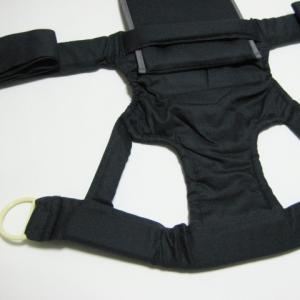 昔ながらのバッテンおんぶひも 日本製 使いやすいコンパクトデザイン おんぶ紐 ばってん 抱っこひも 濃紺 OPPER クロス 専用紐|babynetshop|02