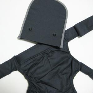 昔ながらのバッテンおんぶひも 日本製 使いやすいコンパクトデザイン おんぶ紐 ばってん 抱っこひも 濃紺 OPPER クロス 専用紐|babynetshop|03