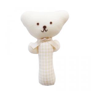 くまさん 鈴入り ガラガラ ベビーラトル にぎにぎ (生成り)赤ちゃん おもちゃ|babynetshop