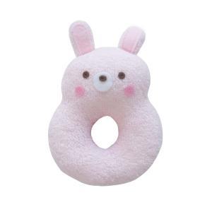 ベビーラトル うさぎ 鈴入り リング型 ピンク 赤ちゃんのおもちゃ 女の子 ウサギ にぎにぎ ガラガラ 新生児用品|babynetshop