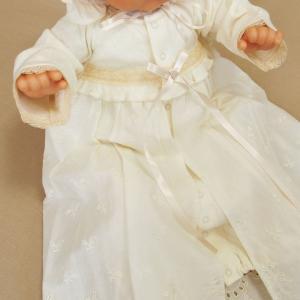 【お宮参り 新生児 退院時用 ベビードレス セレモニードレス】お帽子付き2点セット ベージュ babynetshop 04